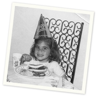 Author Jill Mangel Weisfeld at her third birthday party.